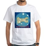 Starry Night PLANET OF THE DOGS White T-Shirt