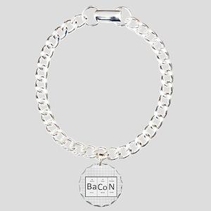 Periodic Bacon Charm Bracelet, One Charm
