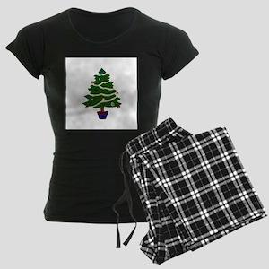 Christmas Tree Women's Dark Pajamas