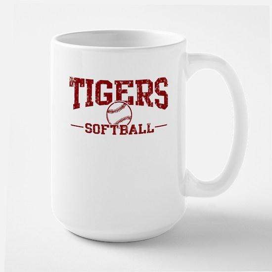 Tigers Softball Large Mug