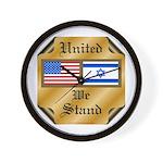 US & Israel United Wall Clock