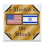US & Israel United Tile Coaster