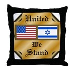 US & Israel United Throw Pillow
