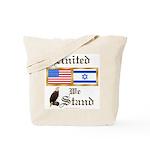 US & Israel United Tote Bag