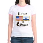 US & Israel United Jr. Ringer T-Shirt