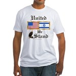 US & Israel United Fitted T-Shirt