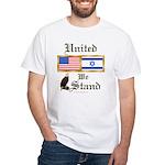 US & Israel United White T-Shirt