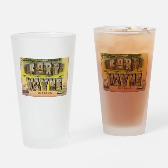Fort Wayne Indiana Drinking Glass