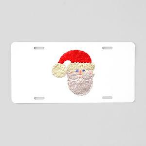 Santa Claus With Cap Aluminum License Plate