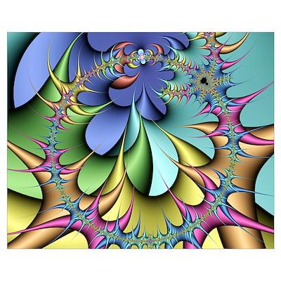 Julia fractal Poster
