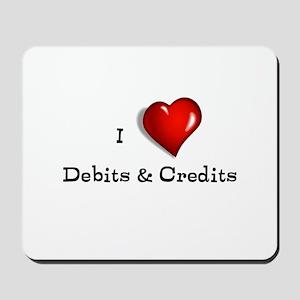 Love Debits Credits Mousepad