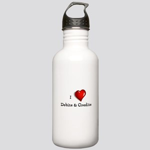 Love Debits Credits Stainless Water Bottle 1.0L