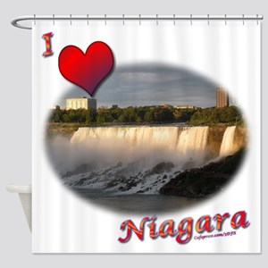 I Love Niagara Shower Curtain