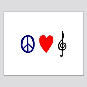 peacelovemusictrans Small Poster