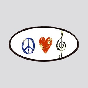 peace, love ,music D Patches