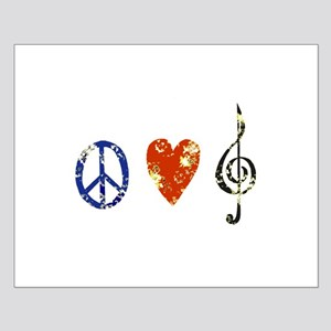peace, love ,music D Small Poster