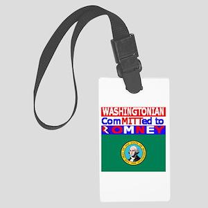 washingtonromneyflag Large Luggage Tag