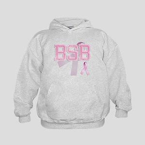 BSB initials, Pink Ribbon, Kids Hoodie