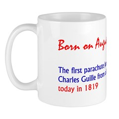 Mug: First parachute jump in the U.S. was made by