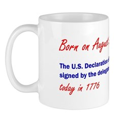 Mug: U.S. Declaration of Independence was formally