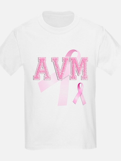 AVM initials, Pink Ribbon, T-Shirt