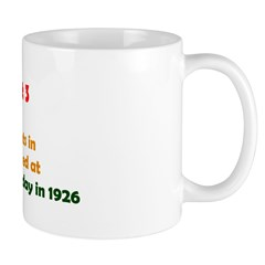 Mug: First traffic lights in Britain were installe
