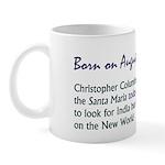 Mug: Christopher Columbus set sail on the Santa Ma