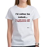 Naked With A Rifle Women's T-Shirt