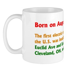 Mug: First electric traffic light in the U.S. was