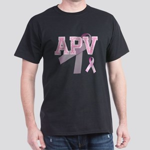 APV initials, Pink Ribbon, Dark T-Shirt