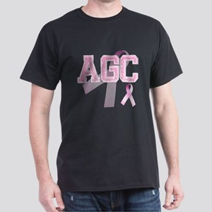 AGC initials, Pink Ribbon, Dark T-Shirt