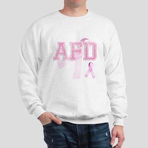 AFD initials, Pink Ribbon, Sweatshirt