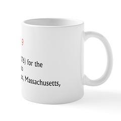 Mug: Patent (No. 25,076) for the escalator was gra