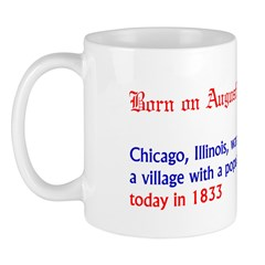 Mug: Chicago, Illinois, was incorporated as a vill
