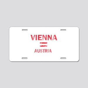 Vienna Austria Designs Aluminum License Plate