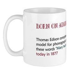 Mug: Thomas Edison completed the first model for p