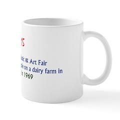 Mug: 3-day Woodstock Music & Art Fair opened to 45