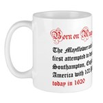 Mug: Mayflower and Speedwell first attempted to de