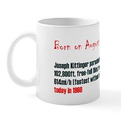 Mug: Joseph Kittinger parachuted a record 102,800f