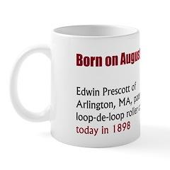 Mug: Edwin Prescott of Arlington, MA, patented the