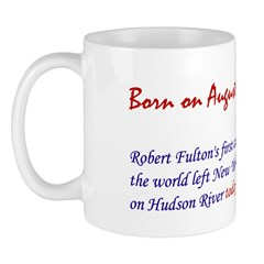 Mug: Robert Fulton's first commercial steamboat of
