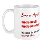 Mug: Indonesia Independence Day Indonesia declared