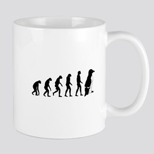 Humans evolve into penguins Mug