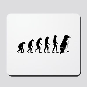 Humans evolve into penguins Mousepad