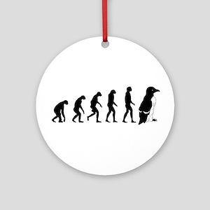 Humans evolve into penguins Ornament (Round)