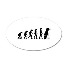 Humans evolve into penguins Wall Decal
