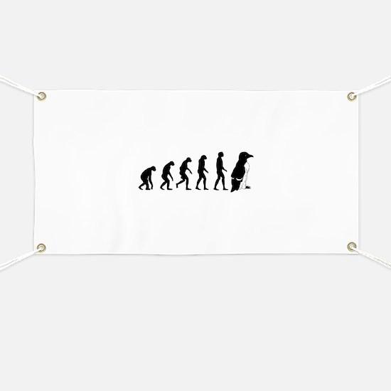 Humans evolve into penguins Banner