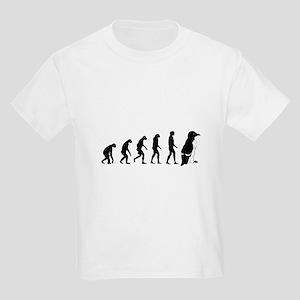 Humans evolve into penguins Kids Light T-Shirt