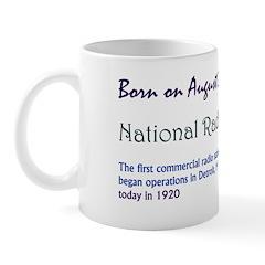 Mug: Radio Day The first commercial radio station,
