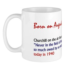 Mug: Churchill on the air force: 'Never in the fie